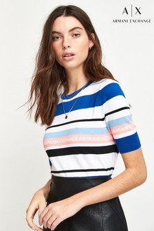 Armani Exchange Multi Stripe Top