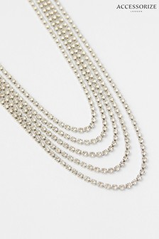 Accessorize Layered Cupchain Collar Necklace