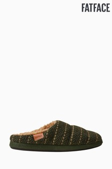 FatFace Green Seth Quilted Mules