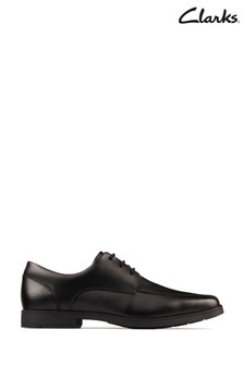 Clarks Black Leather Scala Step Youths Shoes