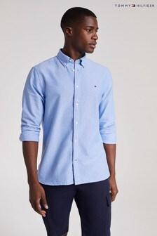 Tommy Hilfiger Blue Oxford Mini Print Shirt