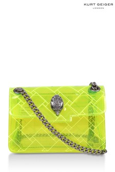 Kurt Geiger London Yellow Transparent Mini Kensington Bag