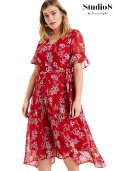 Studio 8 Red Hasina Floral Dress