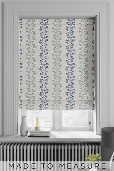 Georgia Navy Natural Made To Measure Roman Blind