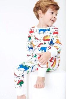 Dino Print Snuggle Pyjamas (9mths-8yrs)
