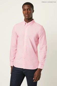 Chemise rayée à pois French Connection rose