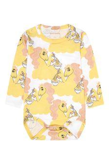 Mini Rodini Baby Girls Yellow Bodysuit