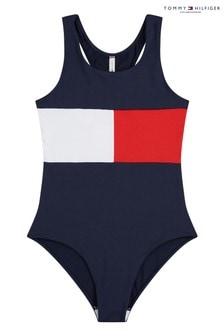Tommy Hilfiger Blue Core Flag Swimsuit
