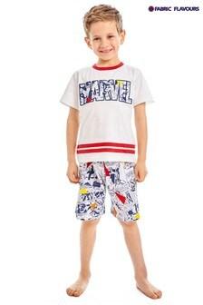 Fabric Flavours White Marvel® Avengers Comics Pyjamas