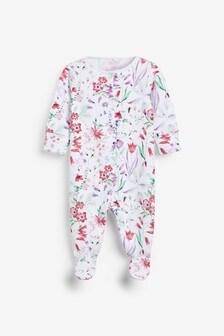 Floral Sleepsuit (0mths-2yrs)
