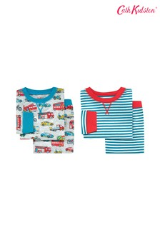 Cath Kidston® Kids Jersey Toy Traffic Pyjamas Two Pack