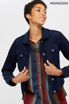 Monsoon Ladies Blue Connie Cord Jacket