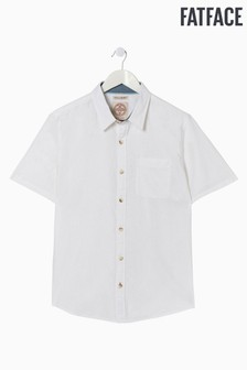 FatFace White Bugle Linen Cotton Shirt