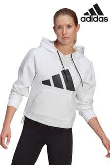 adidas White Street Pullover Hoody