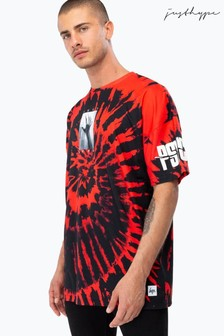 Hype. Red Universal Monsters Psycho Tie Dye Men's Oversized T-Shirt