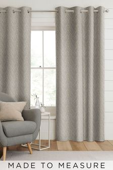 Pionna Grey Lined Made To Measure Curtains
