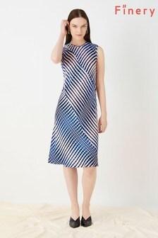 Finery London Blue Delaware Sleeveless Panelled Dress