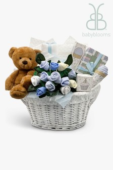 Babyblooms Blue Charlie Bear's New Baby Gift Basket