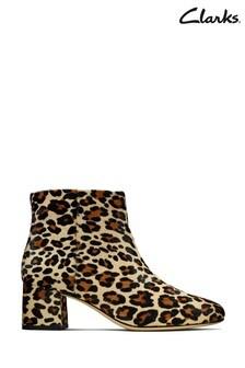 Clarks Leopard Sheer Flora Boots