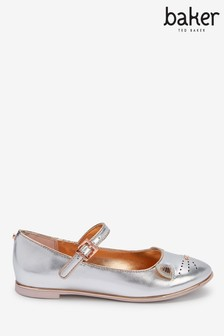 Baker By Ted Baker Metallic Cat Mary Jane Shoes