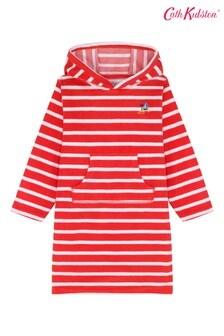 Cath Kidston® Red Speedy Boats Stripe Kids Hooded Towel