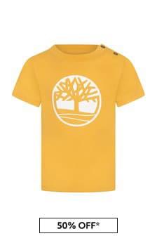 Timberland Baby Boys Yellow Cotton T-Shirt