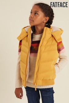FatFace Yellow Hooded Gilet