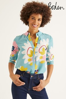 Boden Blue The Silk Shirt