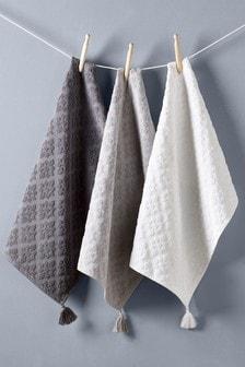 Set of 3 Mila Tile Kitchen Towels