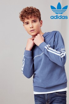 adidas Originals Blue Outline Crew Sweater