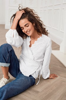 Broderie Wrap Top