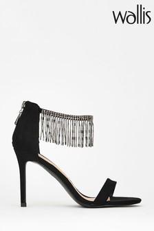 Wallis Black Shandy Black Chandelier Trim Sandals
