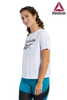 Reebok White Work Out Ready T-Shirt