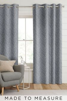 Pionna Danube Blue Made To Measure Curtains