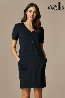 Wallis Navy Ponte Dress