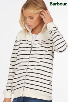 Barbour® Coastal Navy Stripe Zip Through Folkstone Jersey Jacket