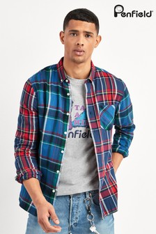Penfield Blue Barrhead Patchwork Shirt