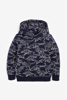 All Over Print Dino Hoody (3-14yrs)