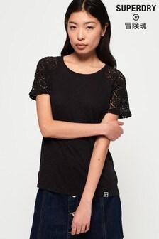 Superdry Elisa Lace Raglan T-Shirt