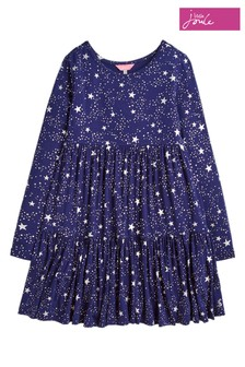 Joules Blue Toni Tiered Dress