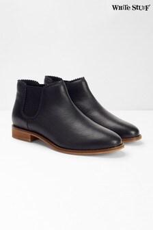 White Stuff Black Emma Chelsea Boots
