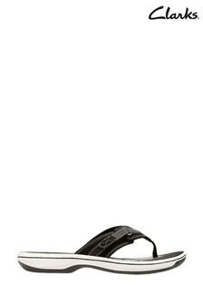 Clarks Black Synthetic Brinkley Sea Sandals