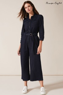 Phase Eight Blue Jarah Denim Jumpsuit