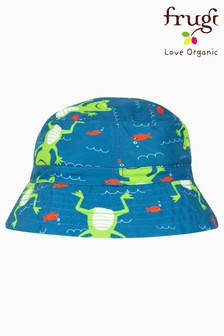 Frugi Oeko Tex UPF 50+ Recycled Swim Hat In Frog Print
