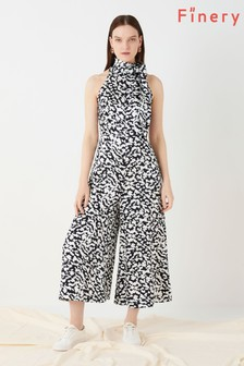 Finery London Black Maryon Printed Jumpsuit