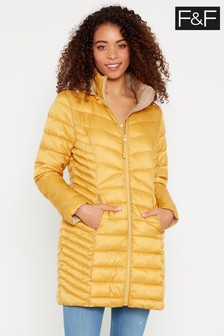 F&F Mustard Long Padded Coat