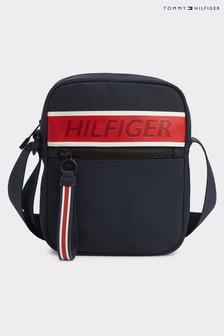 Tommy Hilfiger Blue Branded Mini Reporter Bag