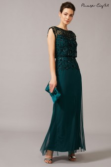 Phase Eight Green Elan Sequinned Dress