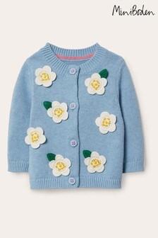 Boden Blue Crochet Detail Cardigan