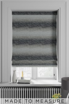Ombre Stripe Grey Made To Measure Roman Blind